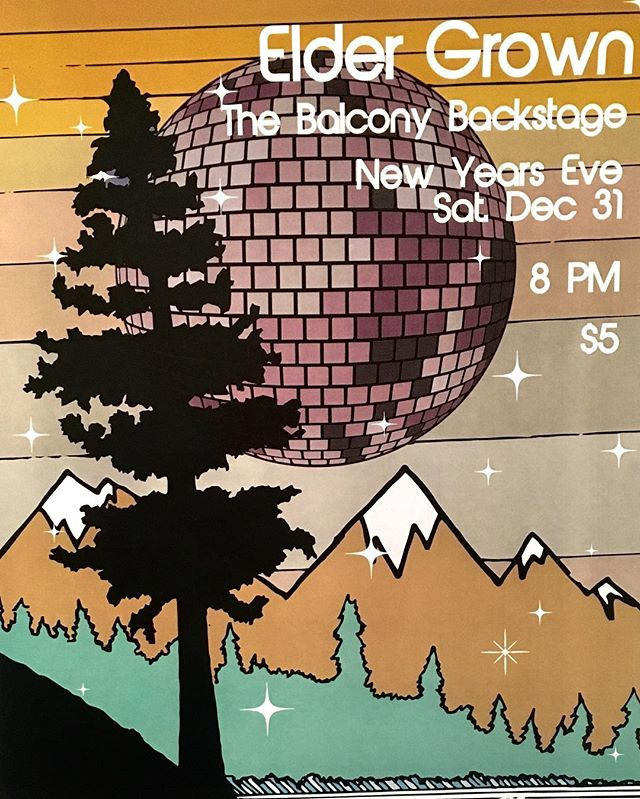 Happy Holidays! See everybody New Years Eve! @balcony_backstage 📸; Shanns!, @pthoffman #eldergrown #livemusic #showposter #newyearseve2016 #localmusic