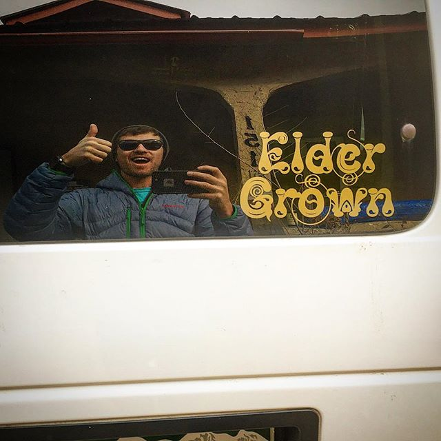 Well we're on the road today heading south to our next stop of the tour, Prescott Arizona. Playing the @ravencafe_prescott tonight! #prescott #eldergrown #vanlife #bandstickers #ravencafe