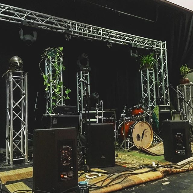 That stage though! Getting pumped for the show at the @animas_city_theatre tonight with @nicenessband! #stagedesign #localmusic #livemusic #headliners #plants