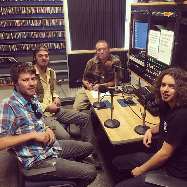 Hung out at @kdurdurango studio for a bit this morning with our friend @bryantliggett chatting about our show with @nicenessband that is tomorrow night at the @animas_city_theatre! Check out his show 'Music Lesson' which airs tomorrow at 5:30pm! #radio #communityradio #localmusic #musicpromo #kdur #nicenessband
