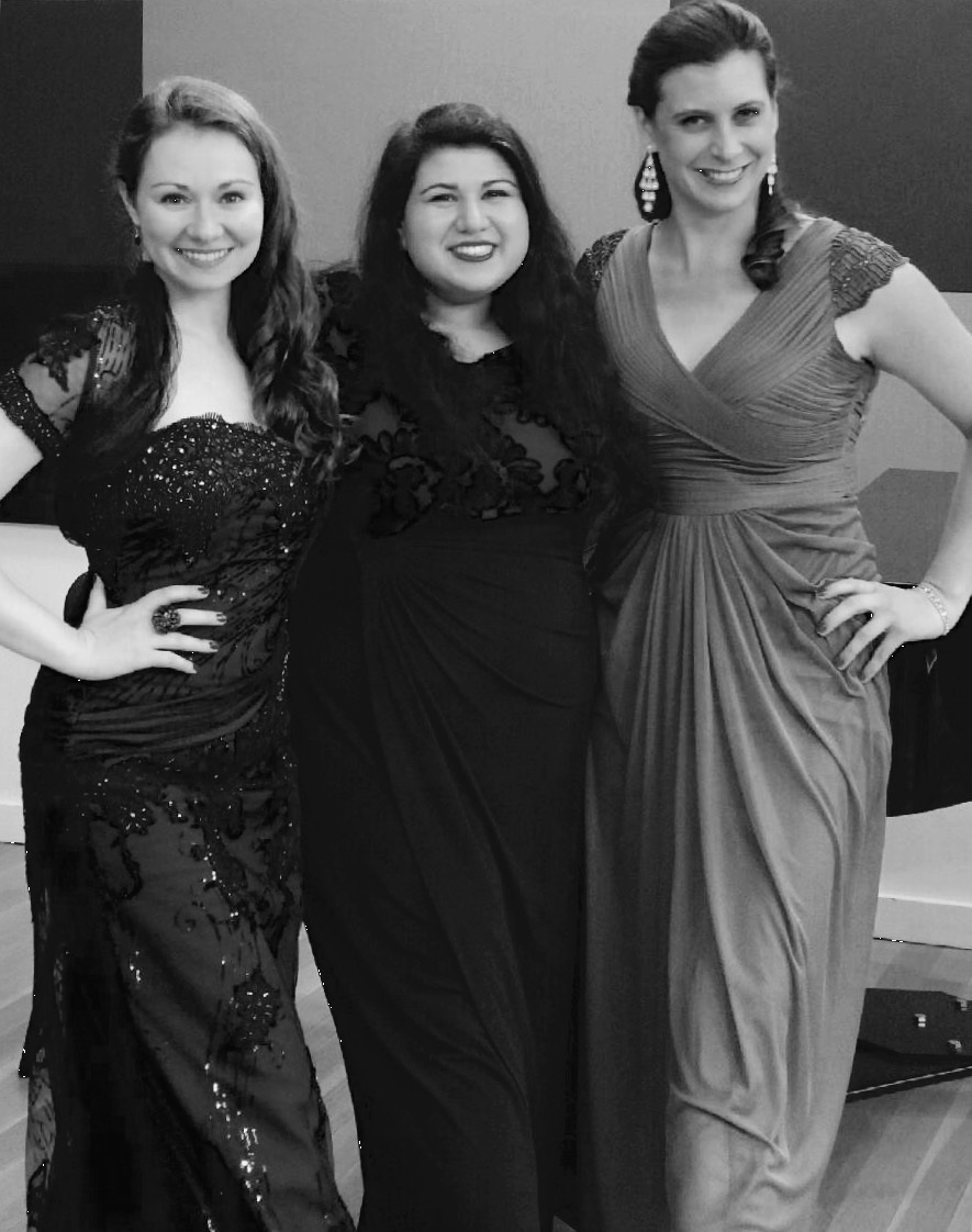 With her trio, JACOPERA, after a concert at the National Opera Center in New York City.