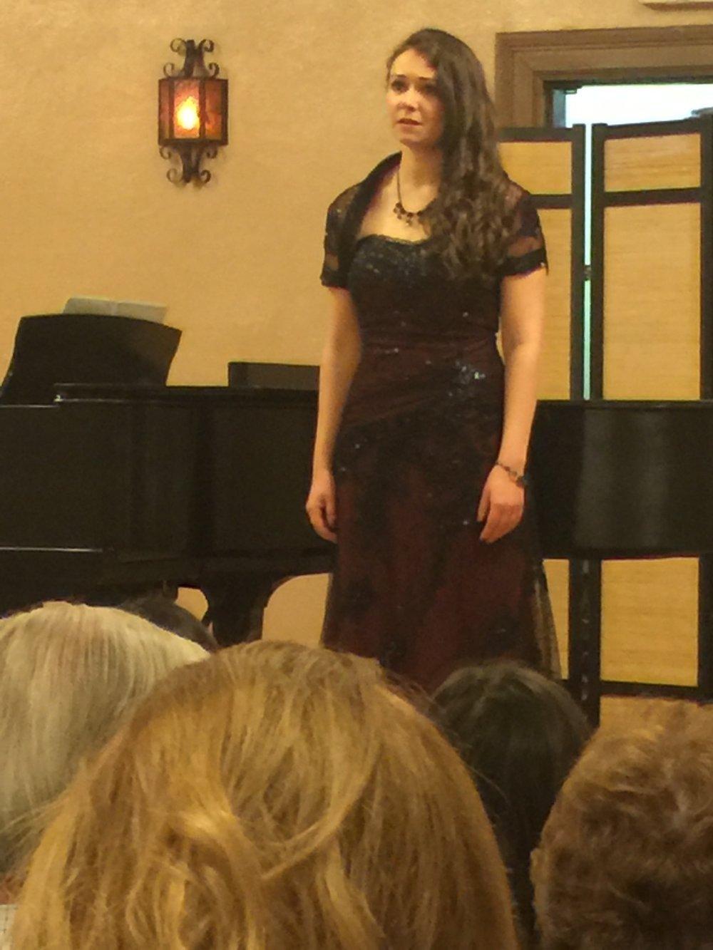 Bel canto at the Trianon Theatre of San Jose, California