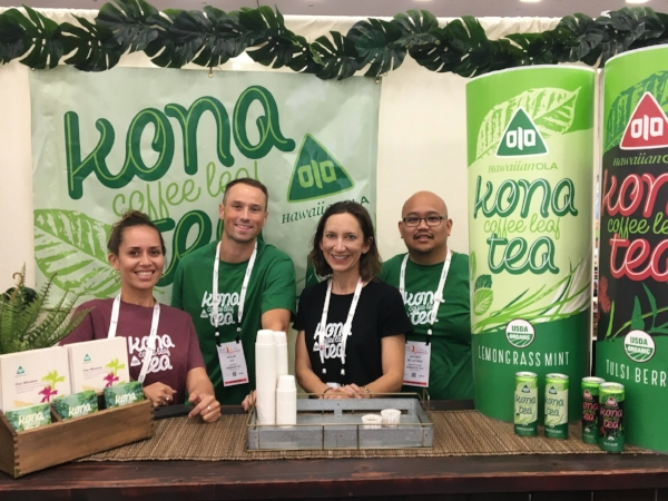 Our team sharing Kona Teas at Expo West!