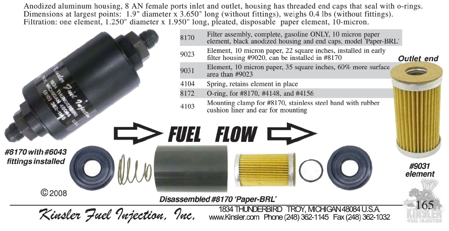 fuel filter overview and assembly instructions