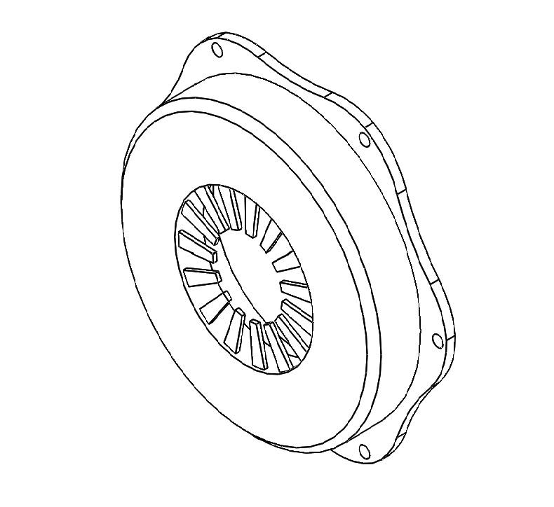 G1172002a Pressure Plate Assy White
