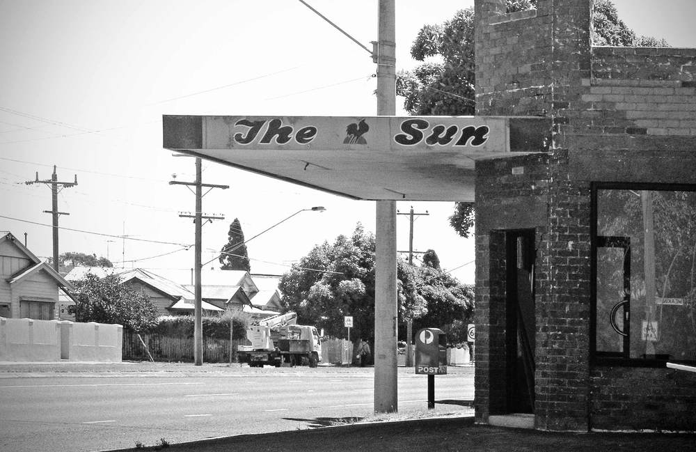 Dave's Milk Bar, aka Hawking's Corner Store, East Geelong, 2001. The first photograph I took in the project of my childhood Milk Bar.