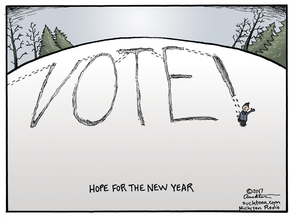 Comic by John Auchter, found here: http://michiganradio.org/post/auchters-art-hope-new-year