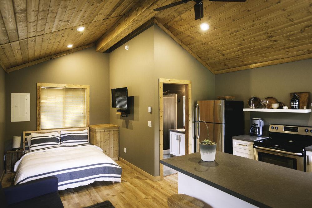 Studio cabin interior