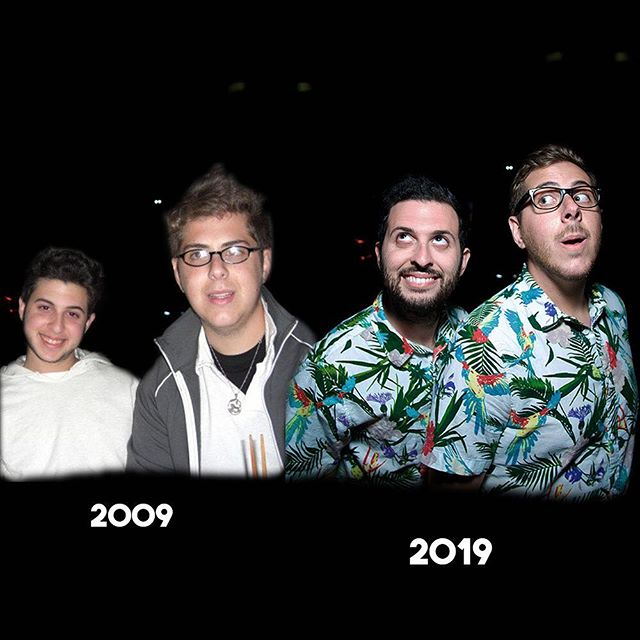 The only thing that's changed is we bought Hawaiian shirts! #2009vs2019