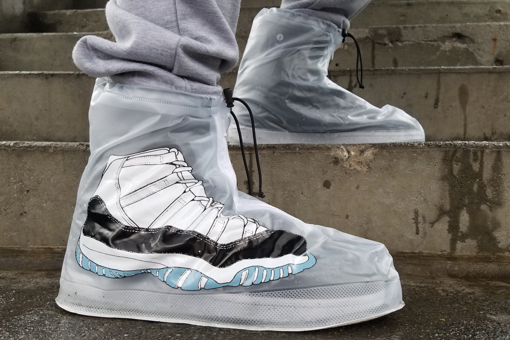 Waterproof sneaker protectors to protect your heat during rain or snow. The $19.99 price tag is well worth it. Stop by drysteppers.com and cop yours.