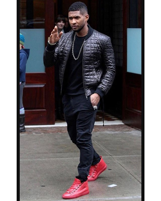Red Bottoms & Balenciaga 👀🔥 @usher