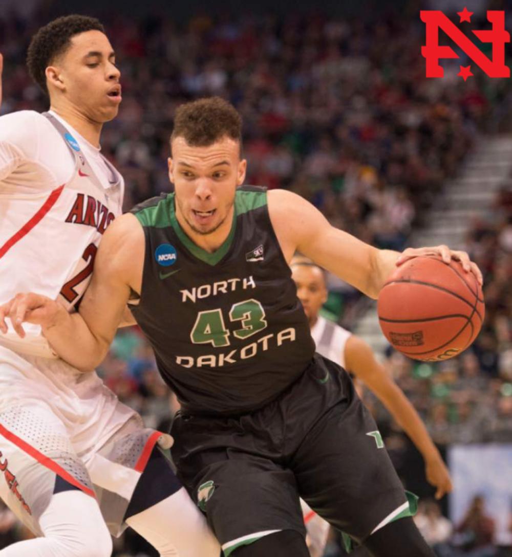 Drick Bernstine of North Dakota scored 20 points and 15 rebounds against Arizona in the NCAA tournament. Drick went the Cherokee Trail High School.