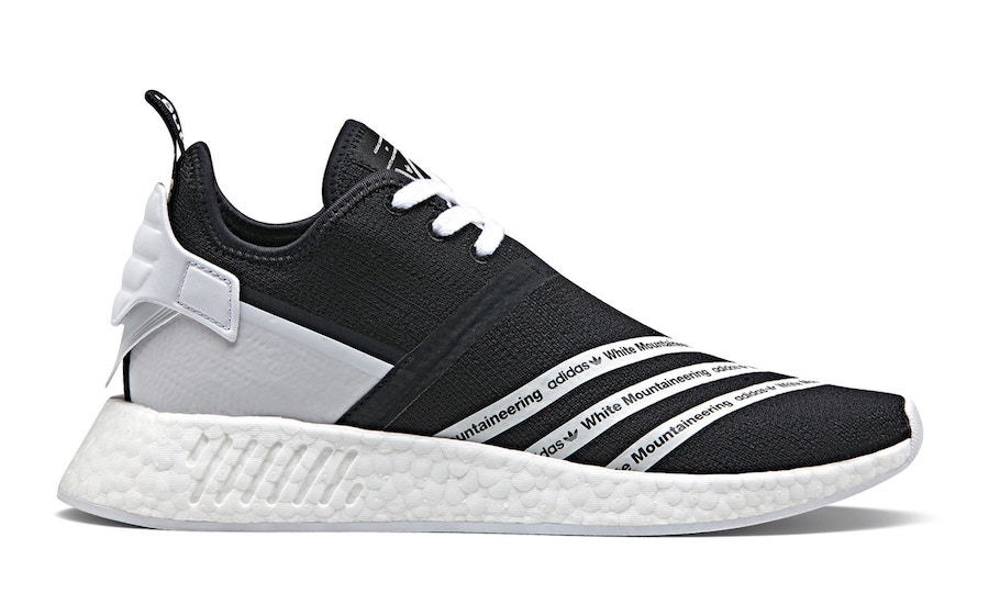 7/15 White Mountaineering X Adidas NMD R2 Black $220