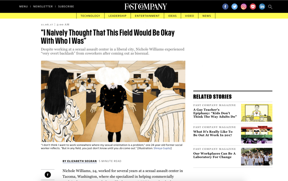 FAST COMPANY- ON COMING OUT