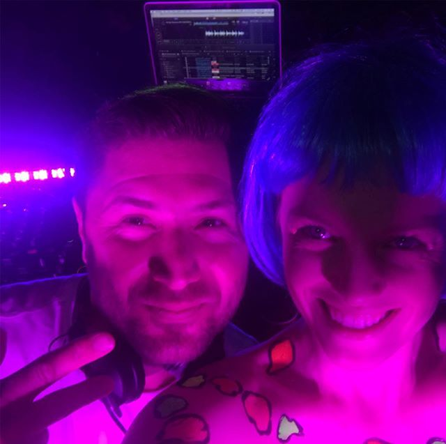 💙🎧💗 If someone had told me ten years ago I would be sharing the stage with @kidkenobiofficial I would probably went 'nah no way!' ... then seconds later go 'yeah one day!' 💜🎧💗 #oneday my friends! @bflf_sydney today was an absolute blast! Thank you to my buddies @camburydrums and @jeremygoldfinch for bringing the bass and drum goodness! 😜
