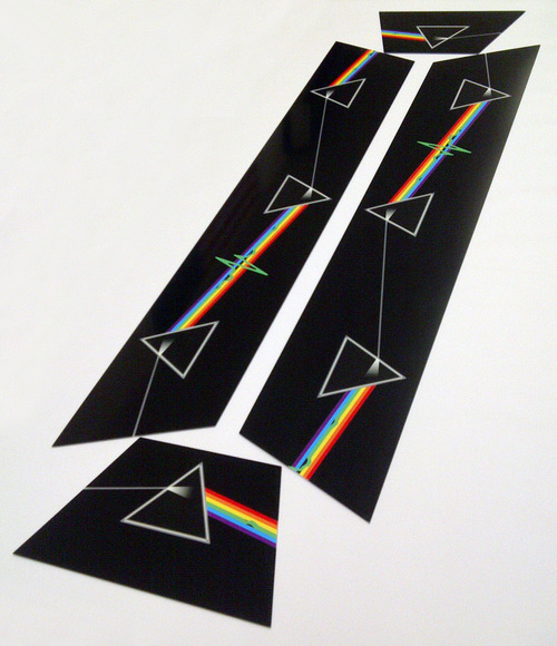 Pink Floyd Dark Side Of The Moon Pool Table Light Panels Raymond - Pool table side panels