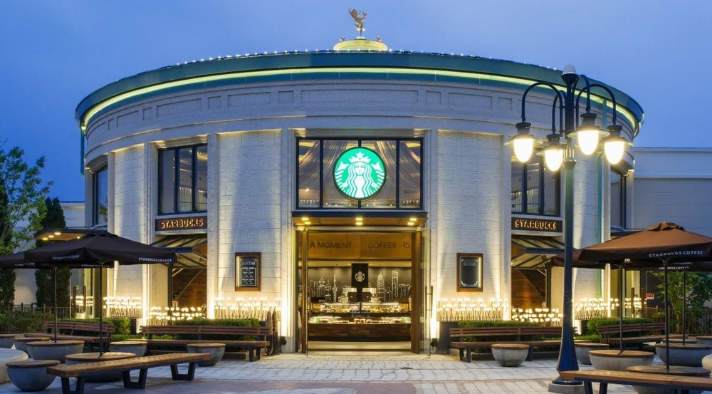 The new Starbucks store in Shanghai's Disneytown. (Photo courtesy of Starbucks)