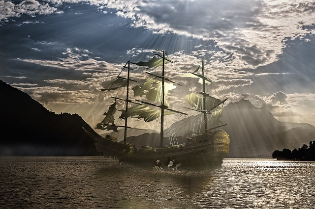 Olden day ship