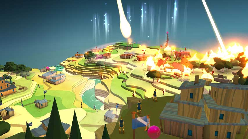 A screenshot from 22 Cans' game, Godus. Available now on Steam, iOS and Android.