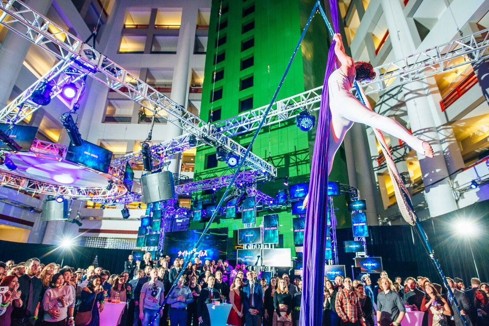 Ubisoft Night Circus at the CBC Building
