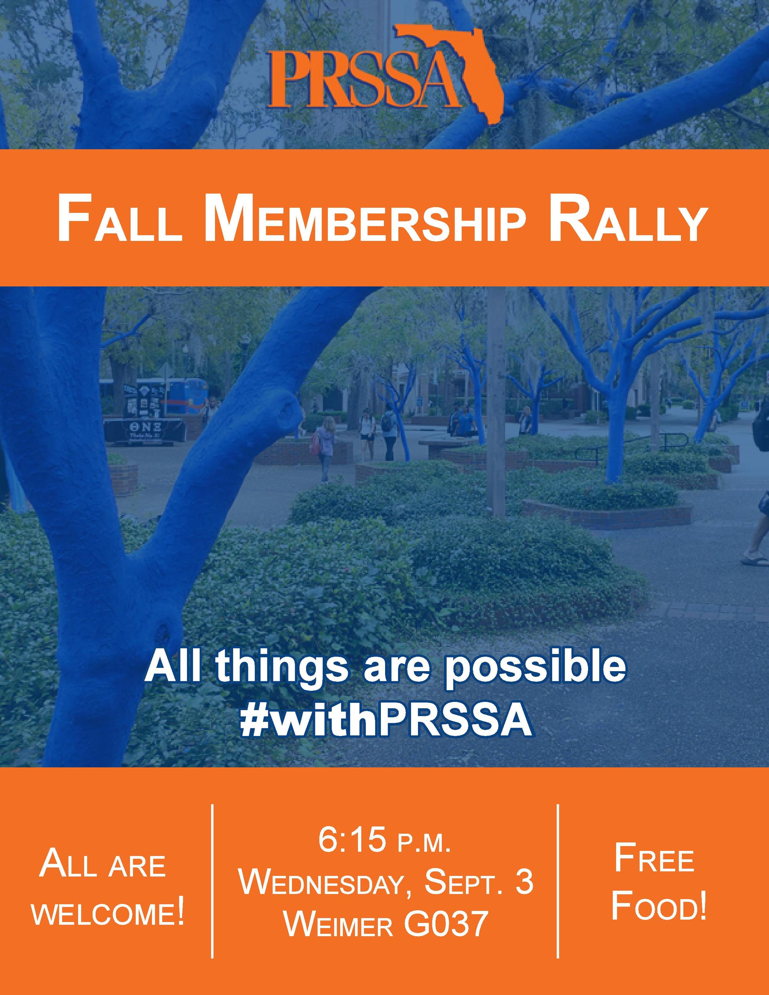 UF PRSSA Fall Membership Rally