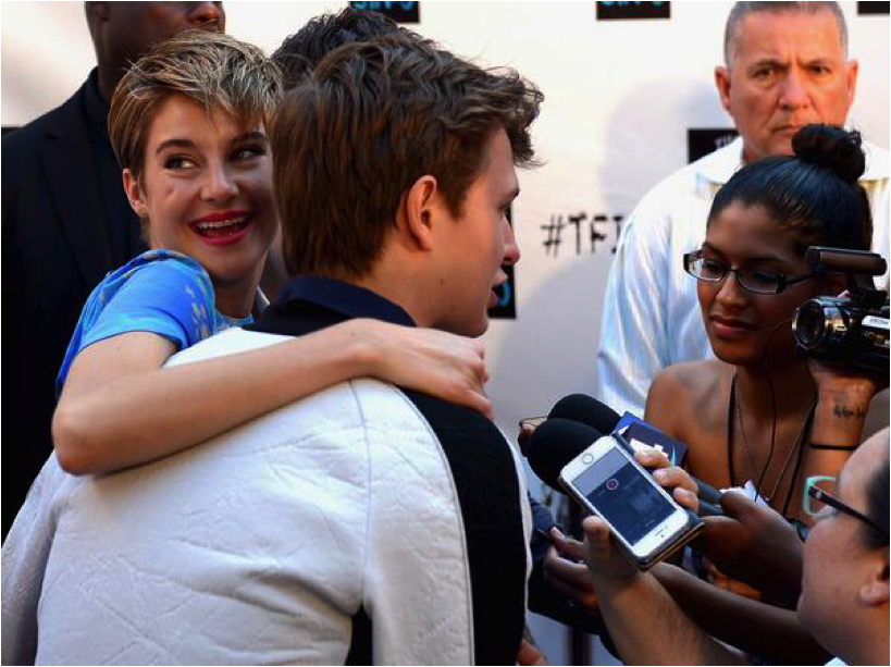 "Interviewing Nat Wolff, Shailene Woodley and Ansel Elgort at ""The Fault In Our Stars"" fan event in Miami. Photo: Gustavo Caballero / Stringer"