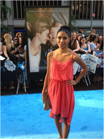"I attend the red carpet world premiere of ""The Fault in Our Stars"" in New York City. Photo: Sarai Cruz"