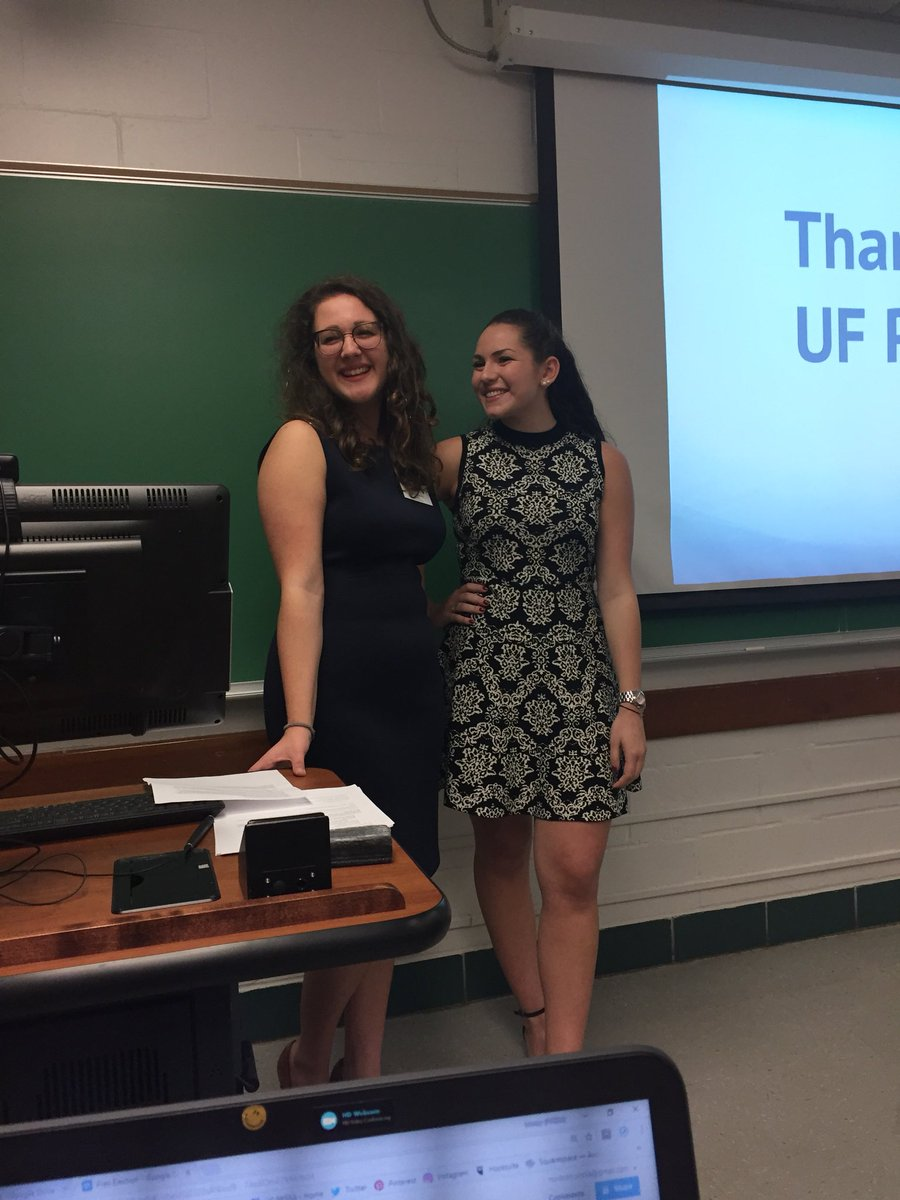 Nicole Graney, PRSSA President 2017-2018 (Left) and Jordan McCrary, PRSSA President-Elect 2018-2019 (Right)