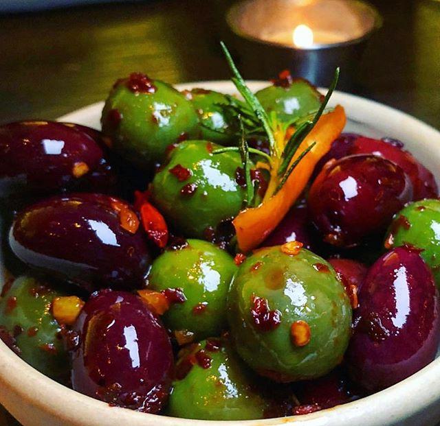 Marcel's Warm Olives change lives. #🐺 📸: @mylastbite
