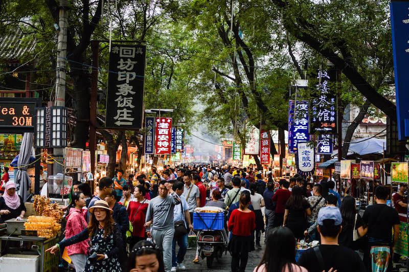 Mercado Musulmán - Xi'an