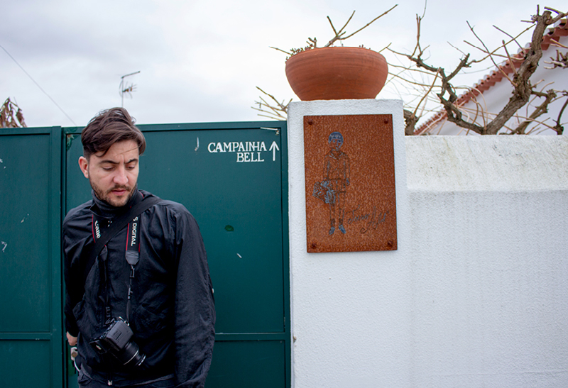 Nuno Henriques outside of the  Toino Abel  workshop and headquarter.