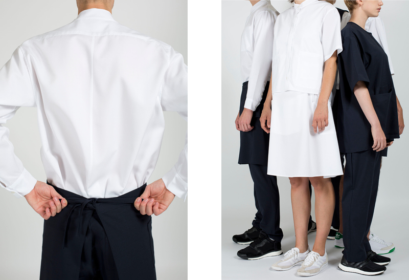 Circular premium hospitality uniforms by Remo Polack.