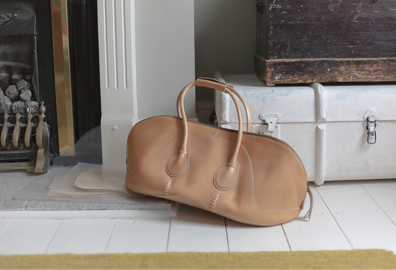 A weekender bag, one of Sonya Kashmiri's initial designs.