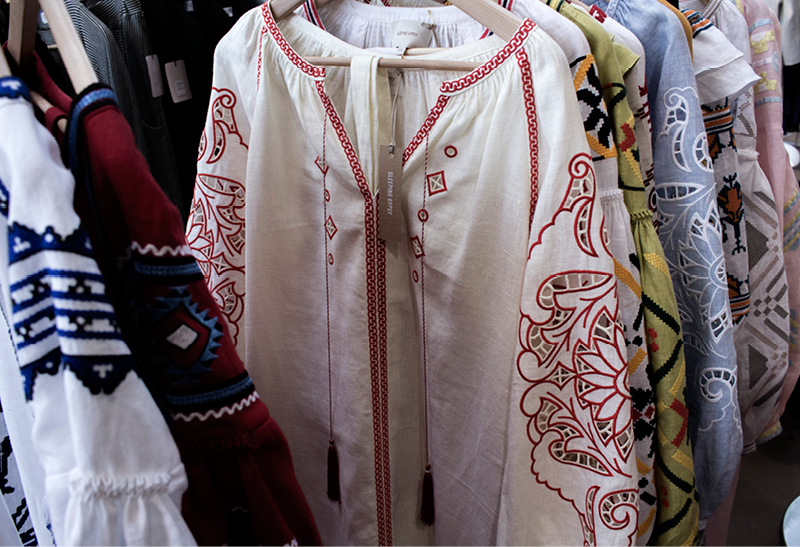 Beautifully embroidered dresses and blouses by Ukranian brand   Sleeping Gypsy   at Greenshowroom.