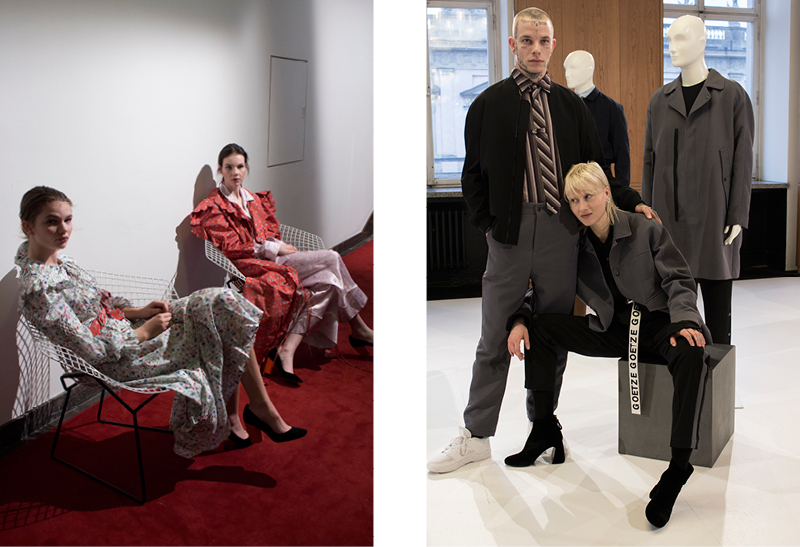 Emerging German fashion brands at   Der Berliner Modesalon  :   Horror Vacui   and   Goetze  .