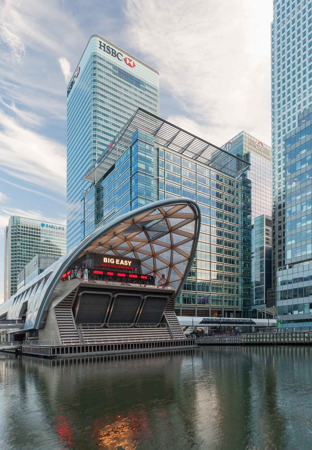 Architectural photography by Ben Tynegate of Crossrail Place - Foster + Partners
