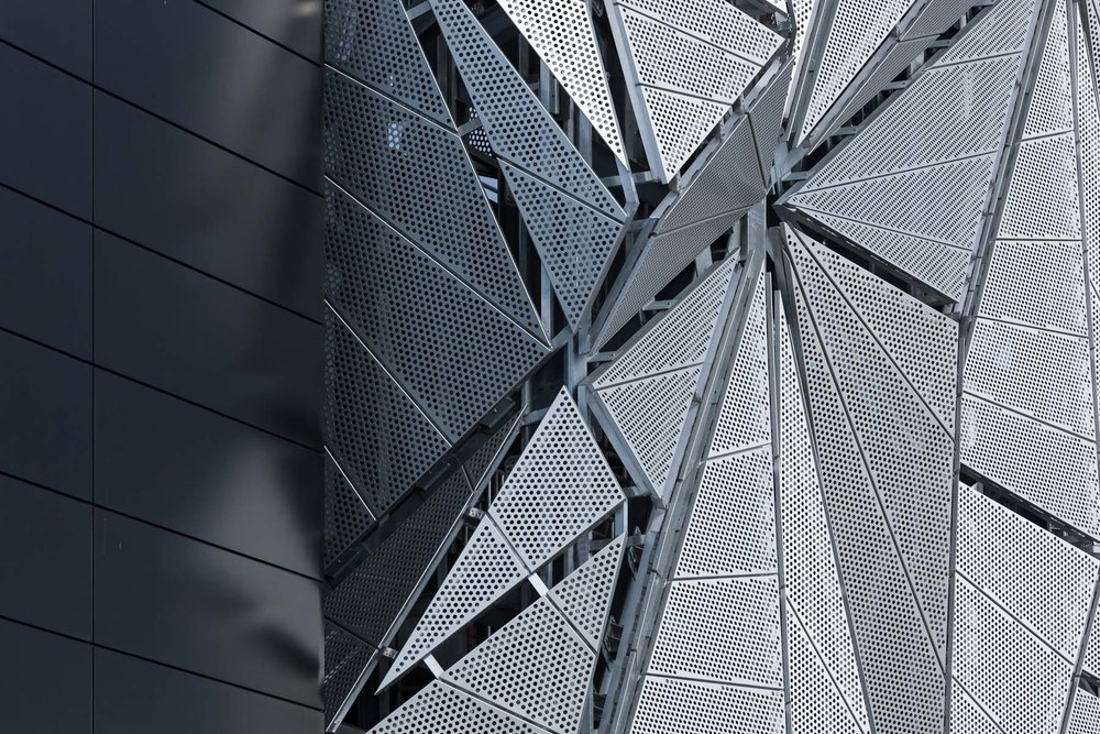 Architectural photography by Ben Tynegate of The Optic Cloak - Conrad Shawcross & CF Møller Architects
