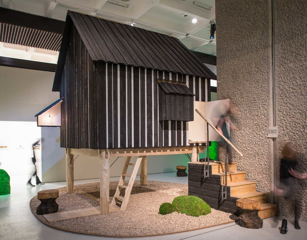 Photography by Ben Tynegate of Teruobu Fujimori's Tea House at the Barbican exhibition The Japanese House: Architecture and Life after 1945