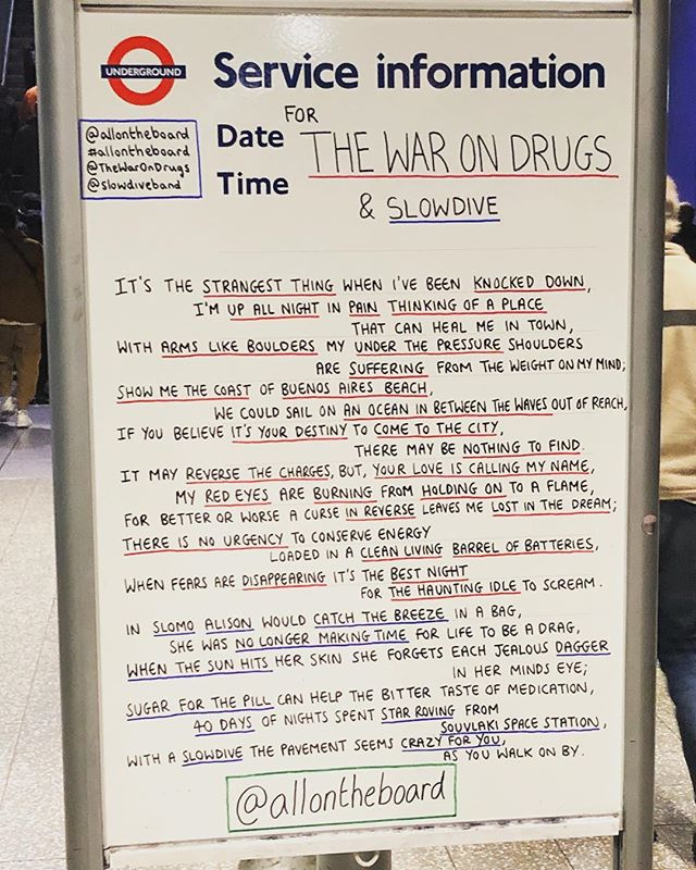 Can't wait for @thewarondrugs tonight!! Once again @allontheboard doesn't disappoint. 👏🏻