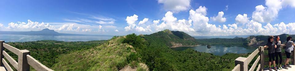 Great panoramic view at the peak.