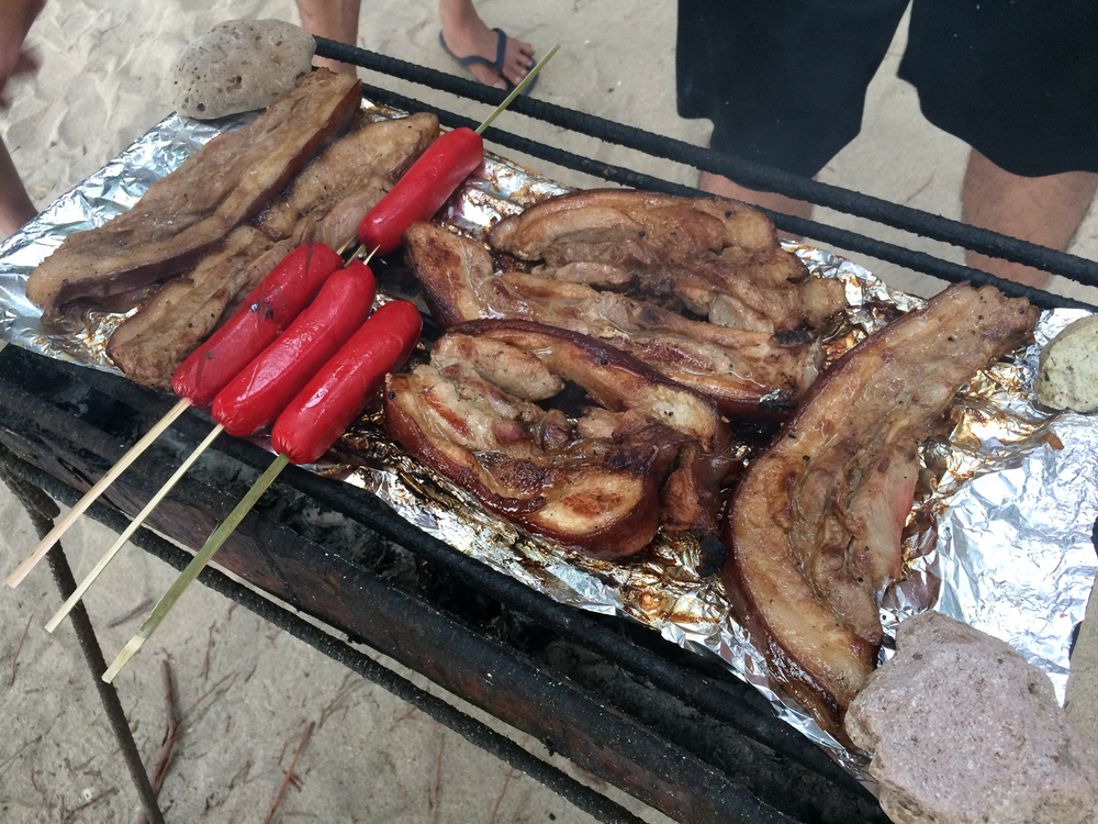 Starting (is that even the appropriate word) the grill was a bit of a challenge for us. So make sure you practice grilling the old school way at home with charcoal or bring someone who knows how to work a grill! Oh, and what's a beach trip without red tender juicy hotdogs? We feasted on these for breakfast, lunch, merienda and dinner.