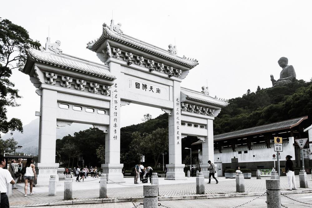 Po Lin Monastery at the  Ngong Ping Village .