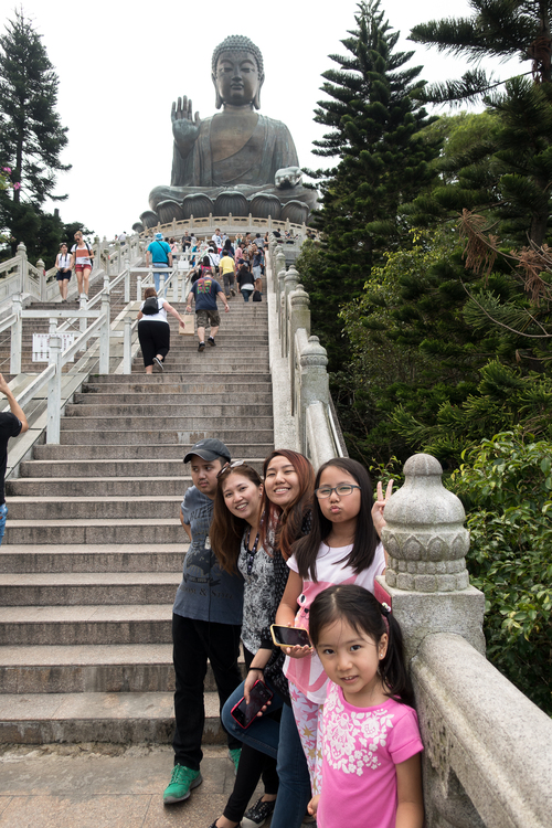 We climbed 268 steps to visit the Big Buddha!