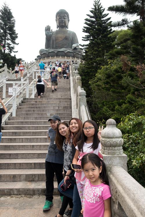 We climbed 268 steps to visit the Big Buddha!