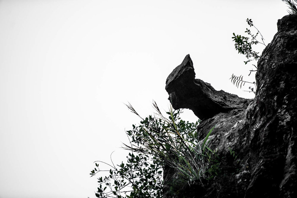 If you look up at the highest point of the hanging coffins, you'll see this rock formation which looks like an angel.