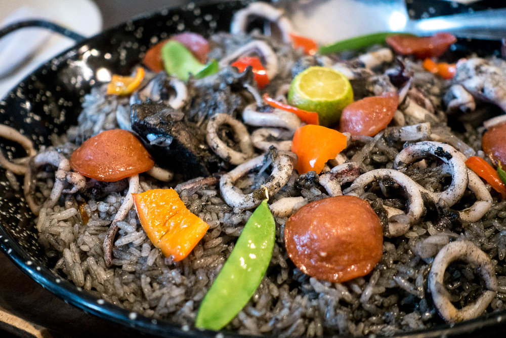 Paella Negra = Php 250 (approximately USD 5)