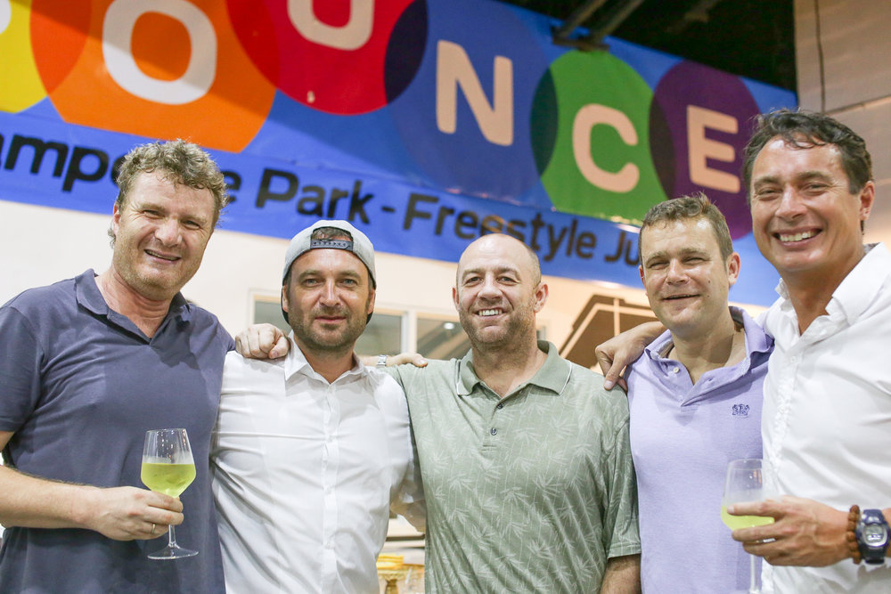 Founder Mark Hogsden (second from left) along with the other owners of  Bounce . Photo by  Sheila Catilo.