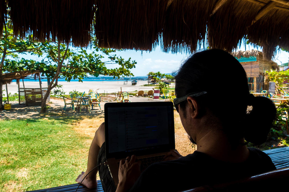Work mode on while on vacation in  La Union . Article here! Photo by  Kaye Olfindo .