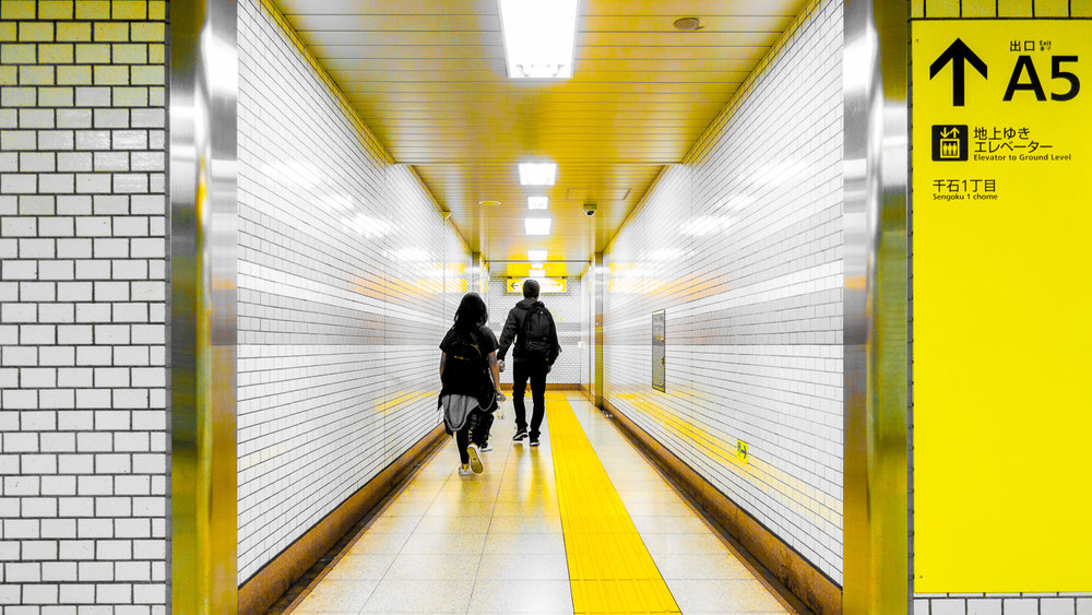 Walk this way. Or that way. I don't know anymore. Getting around the train stations was confusing to me (not to my husband) and I couldn't make sense out of the maps and the signs. I think I could make one whole article and maybe even a video about getting lost in Tokyo's subway system. But getting lost underground is actually an advantage because you get to shop and eat at the various establishments!