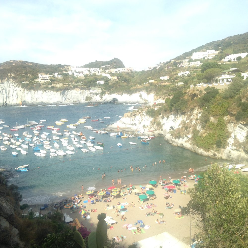 One of Ponza's many hidden beaches